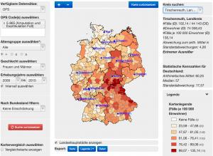 Beispiel einer Visualisierung von medizinischen Daten im Operation Explorer (Bild: HITS)